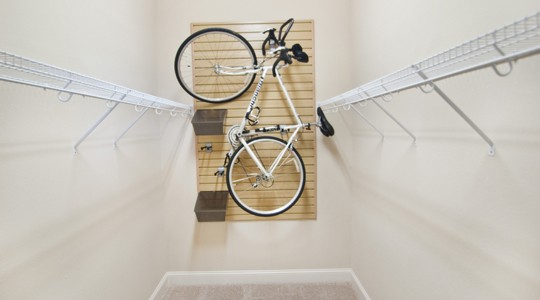 Bella Ridge Apartments in River Ridge, LA offer spacious storage, perfect for cycling enthusiasts.